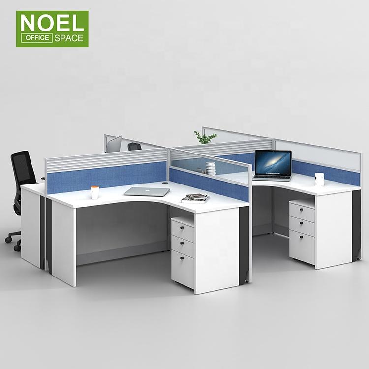 Небольшая офисная Рабочая станция, модульный компьютерный стол с прозрачным стеклянным экраном