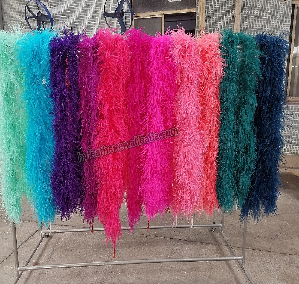 Китайский поставщик, оптовая продажа, модные высококачественные дешевые перья, хорошая гарантия, 4-слойные 5-слойные 10-слойные цветные золотые страусиные перья