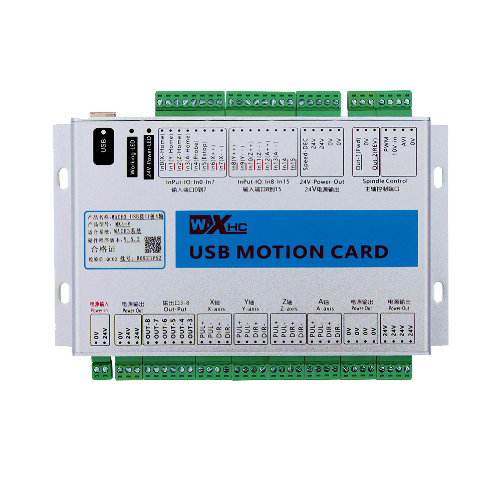 Low cost mach3 cnc controller cnc router cnc controller 4 axis motion control card MK4