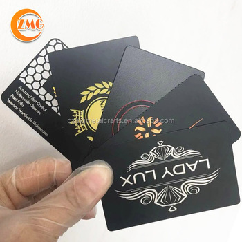 Best selling customized printed matte black stainless steel metal business cards