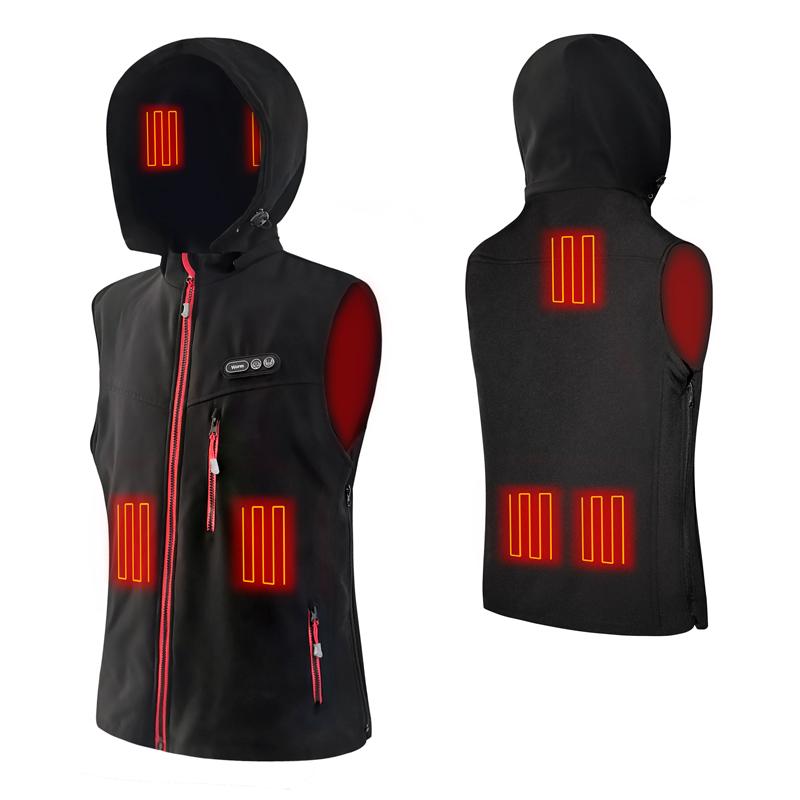 USB на открытом воздухе Рыбалка Катание на лыжах жилет топления длинноволновой части отопление жилет Тепловая Теплая зимняя куртка с капюшоном для детей