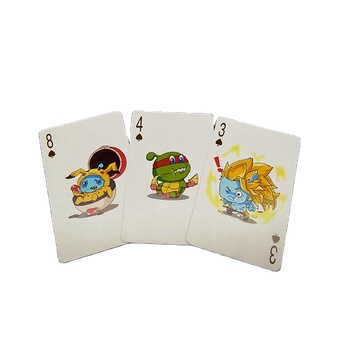Custom advertising game cards printing service pokemon playing cards for sale