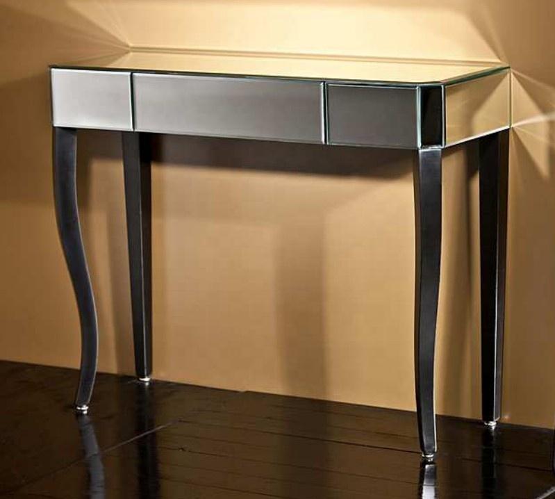 Современная Лидер продаж зеркальная мебель ручной работы Модный с черной тканью прозрачный Зеркальный туалетный стул