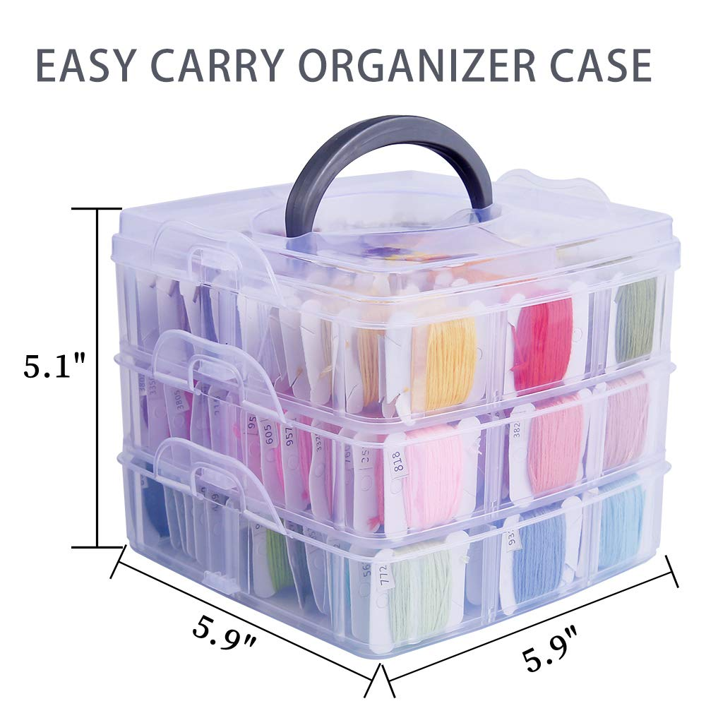 188 Pack Embroidery Floss Set Including 150 Colors Cross Stitch Friendship Bracelets Thread with Floss Bins