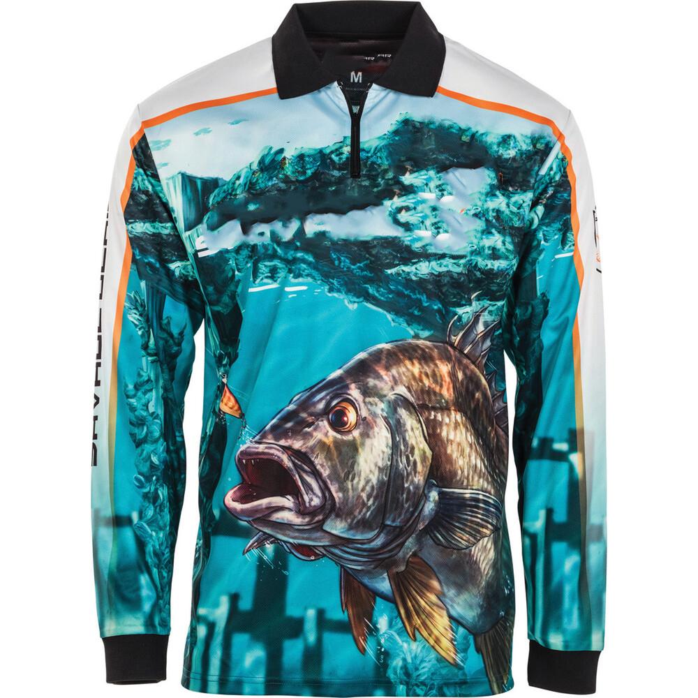 Custom High Quality Polyester Sublimation Printing Anti-UV Quick Dry Long Sleeve Polo Fishing Shirts