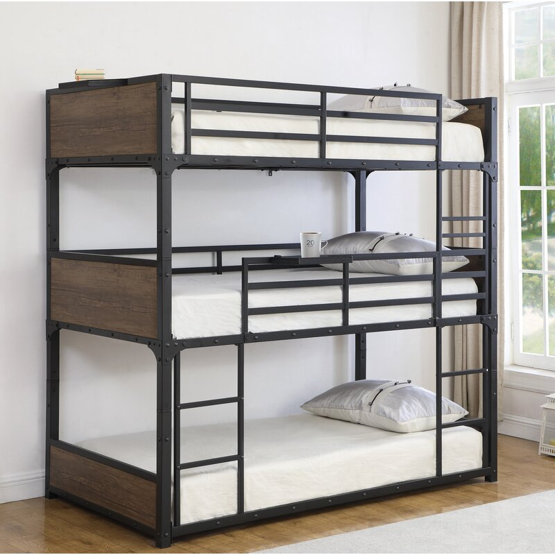 Kid Child Triple Wooden Dormitory Adult Loft Price Slide Bunk Bed Buy Easy Assembly Metal Bunk Bed 2018 Cheap 3 Tier Heavy Duty Steel Pipe Metal 3 Levels Triple Bunk Bed