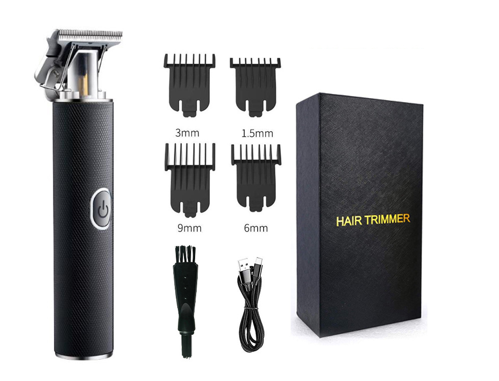 USB Type Rechargeable Lithium Battery Hair Clipper Machine Electric Hair Trimmer for Men