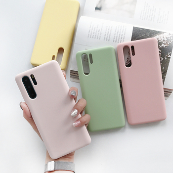 2019 Best-selling Phone Covers For Huawei P30 Microfiber inside Anti-dirty Liquid Silicone Case Factory Price For Huawei Case