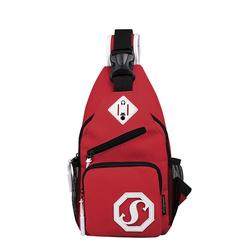 2021 Заказная и маталлическая завязка с usb-зарядкой Повседневная плеча Мужская нагрудная сумка, сумка через плечо Анти-Вор Оксфорд сумка-слинг