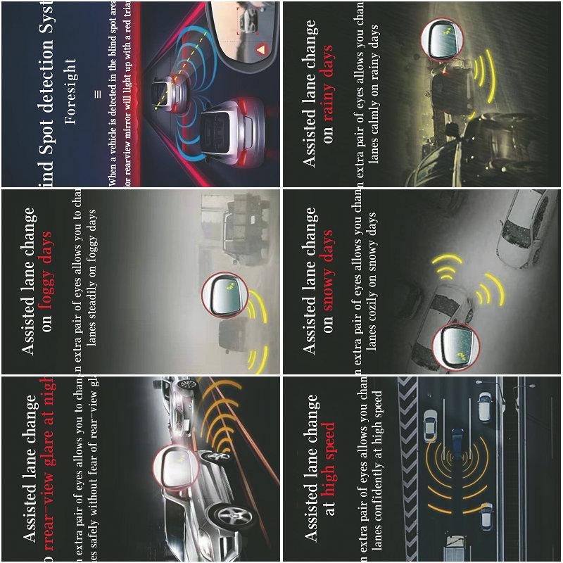 V3 24Ghz car Blind Spot Detection System Microwave radar BSD for Safety Driving Assist universal