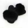 Black lady fur slipper