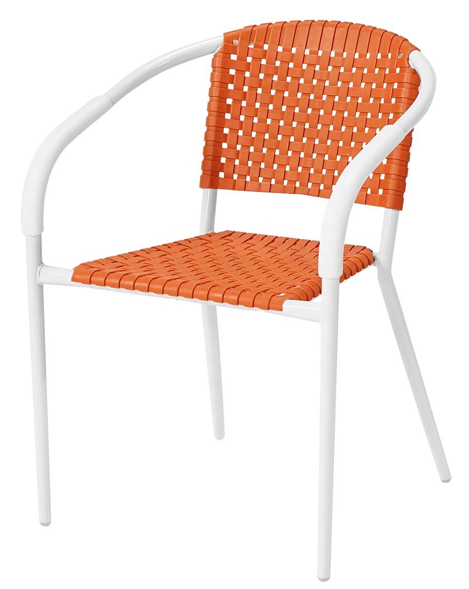 Стулья из полипропилена, пластиковая металлическая рама, обеденный стул для штабелируемого стула из пластика