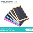 Mobile Phone Solar Charger Portable 20000mAh Mobile Cell Phone Ultra Slim Power Bank Solar Charger With Dual USB