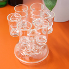 Beer Party A3026 Pour Wine Whisky Beer Rack Party Games Cup Drinking Tools Bar Accessories Liquor 6 Glass Holder Clear Shot Dispenser