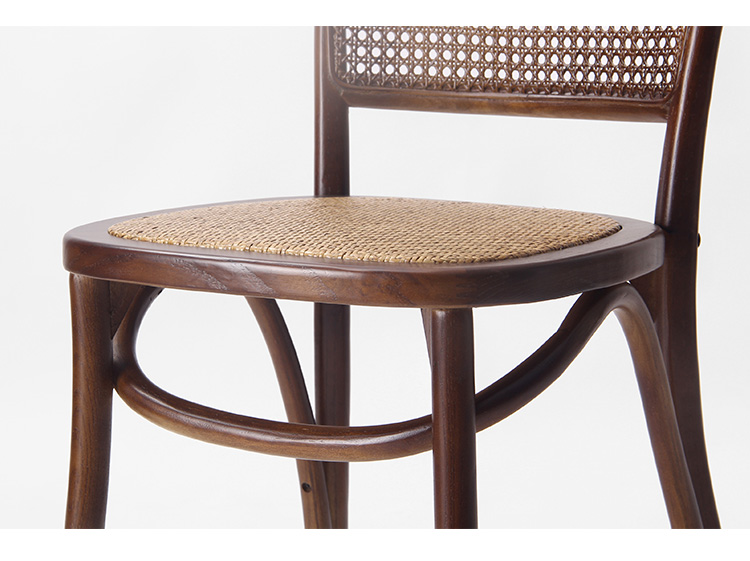 Rental dining furniture wedding solid wood stackable rattan chair