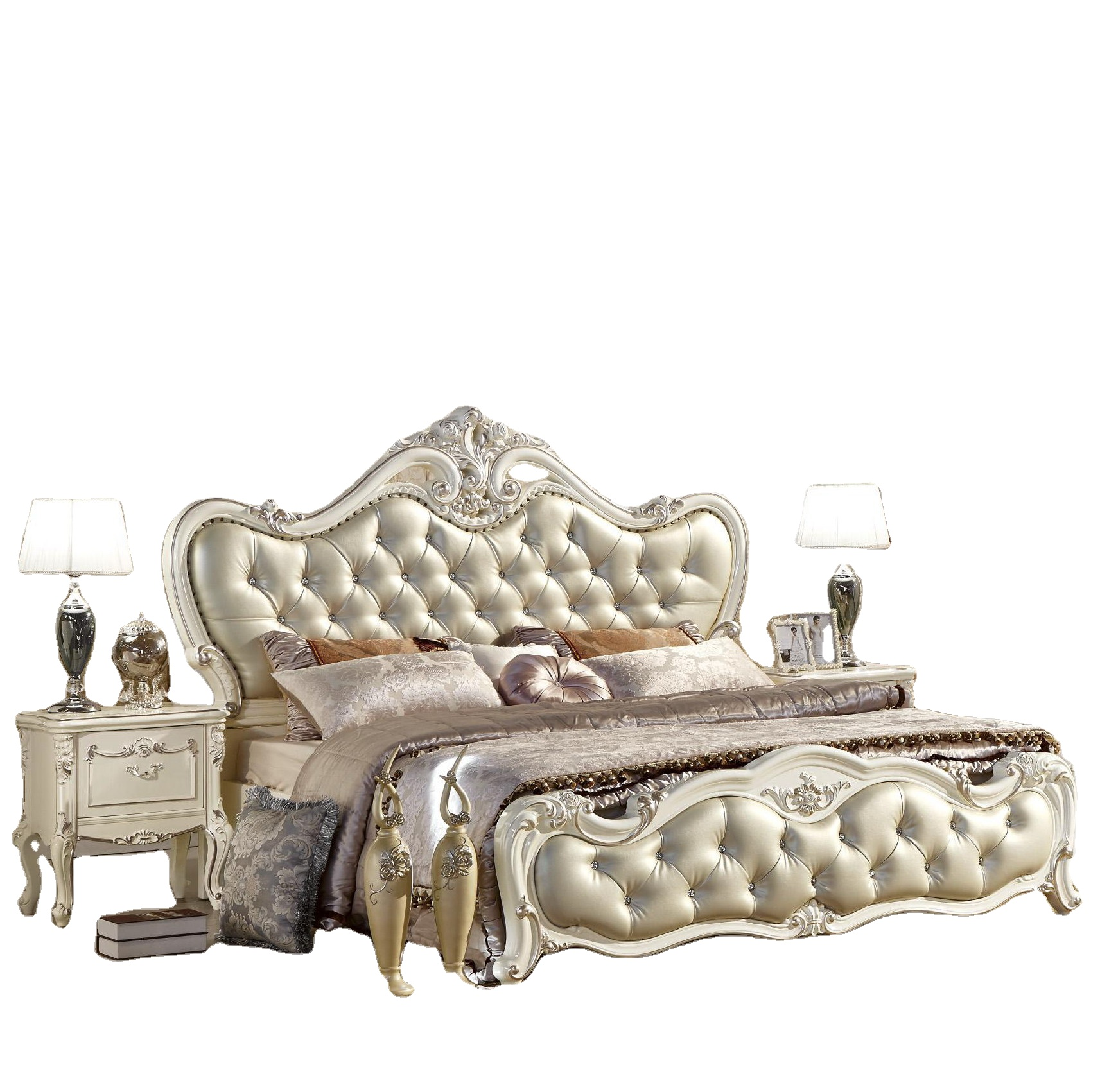 Glossy European Luxury Bedroom Set Furniture King Size Bed Mirrored Bedroom Furniture Set Buy Mirrored Bedroom Furniture Set Luxury Bedroom Set Furniture King Size Bed Bed Set Furniture Bedroom Product On Alibaba Com