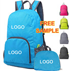 Wholesale Waterproof Cheaper Small Quantities Can custom logo lightweight nylon daypack foldable shopping backpack bag