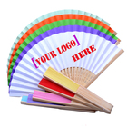 Custom Logo Personalized design Folding Female Hand Fan promotion paper hand fan fabric folding hand fan 100pcs is welcome
