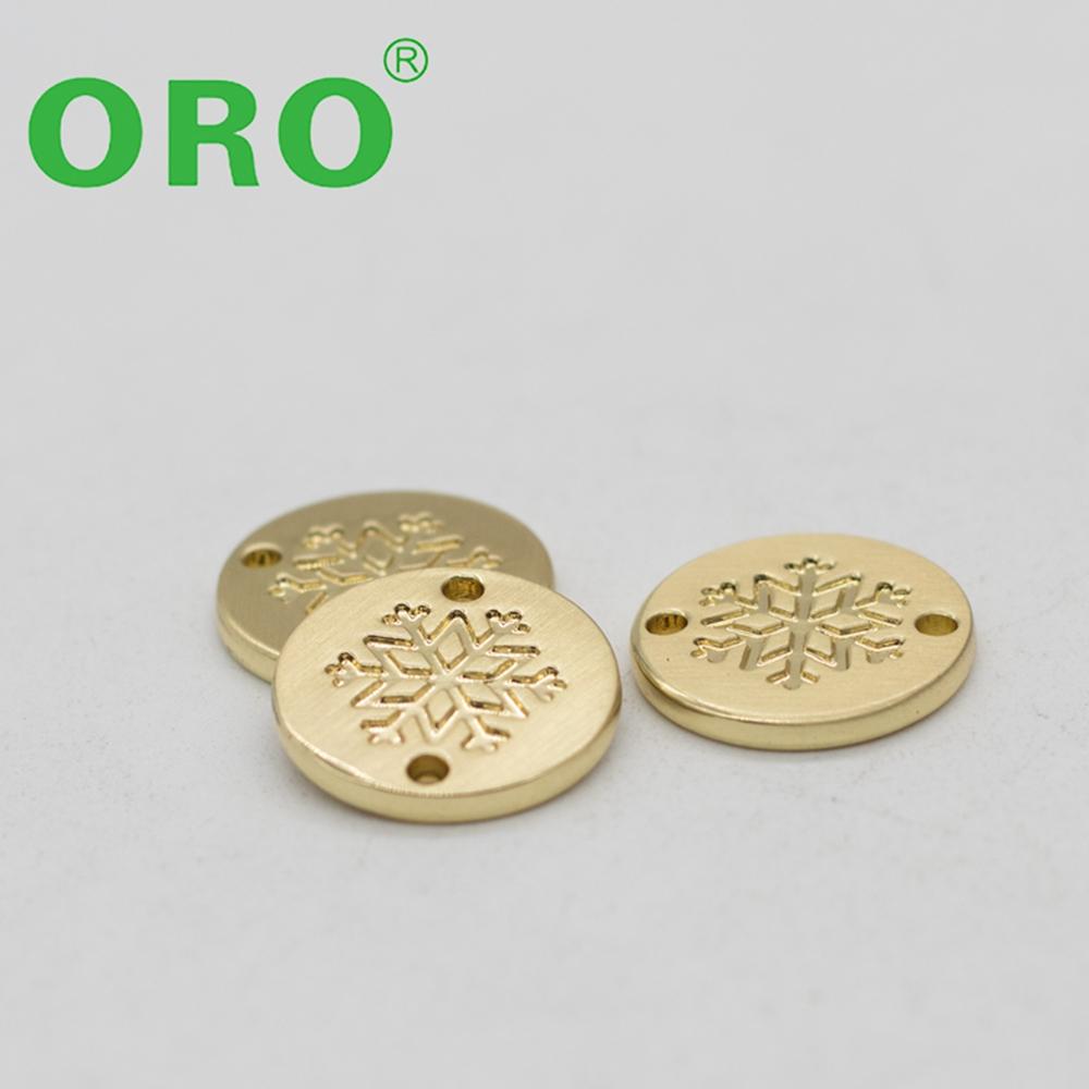 Making design custom gold metal label for bags