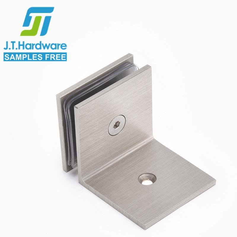Нержавеющая сталь 90 градусов дверной замок для стекла держатель зажим шарнир машины стеклянная душевая дверь зажим