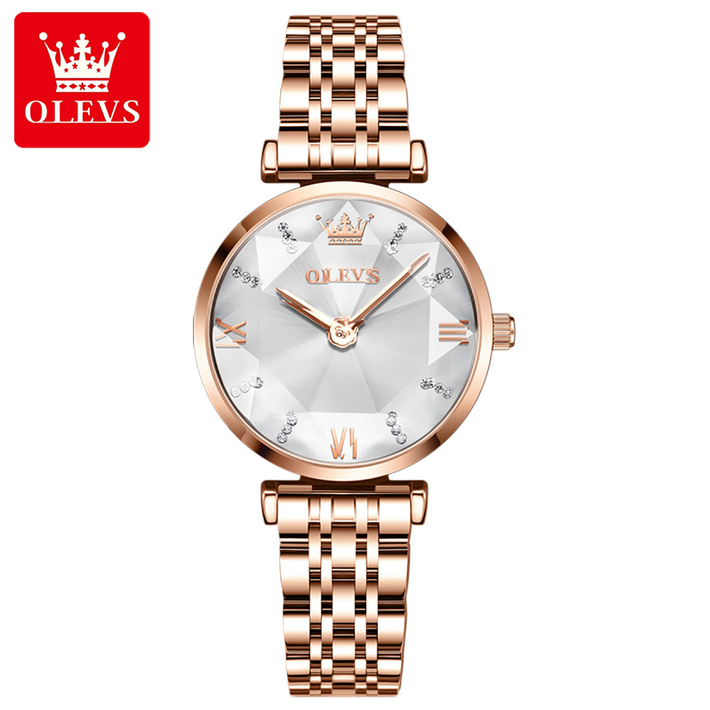 Olevs 6642 Latest Design Steel Strip Rose Gold Quartz Wrist Fashion Women Watches - Buy Olevs Wrist Watch,Ladies Fashion Watches,Quartz Watches Product on Alibaba.com