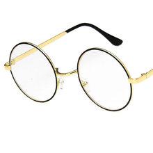 Круглые очки, оправа для женщин и мужчин, поддельные очки, Ретро стиль, уличная мода, оптическая оправа, металлические прозрачные линзы, очки...(Китай)