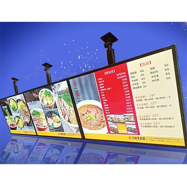 Светодиодный магнитный Ультратонкий лайтбокс A1, A2, A3, A4 для ресторана, Рекламный Лайтбокс для помещений, СВЕТОДИОДНАЯ Панель меню для кафе, кинотеатра