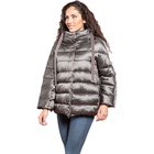 Women Artifical High Quality Women Padded Jacket Zipper Outdoor Winter Artifical Down Jacket With Detachable Hood