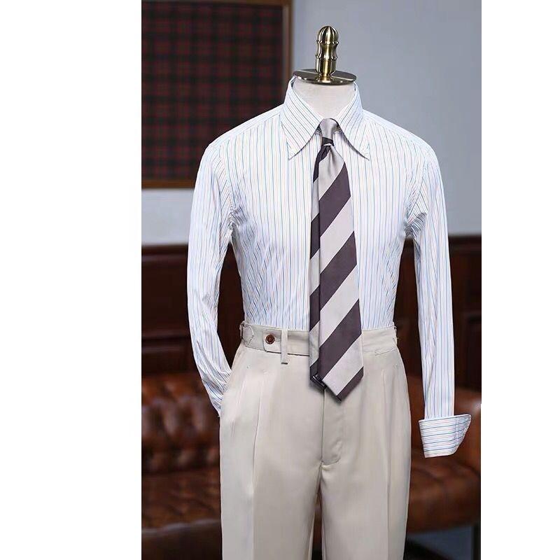 OEM MTM made to measure Custom  Custom casual 100% cotton oxford smart texture short sleeve button down design mens dress shirt