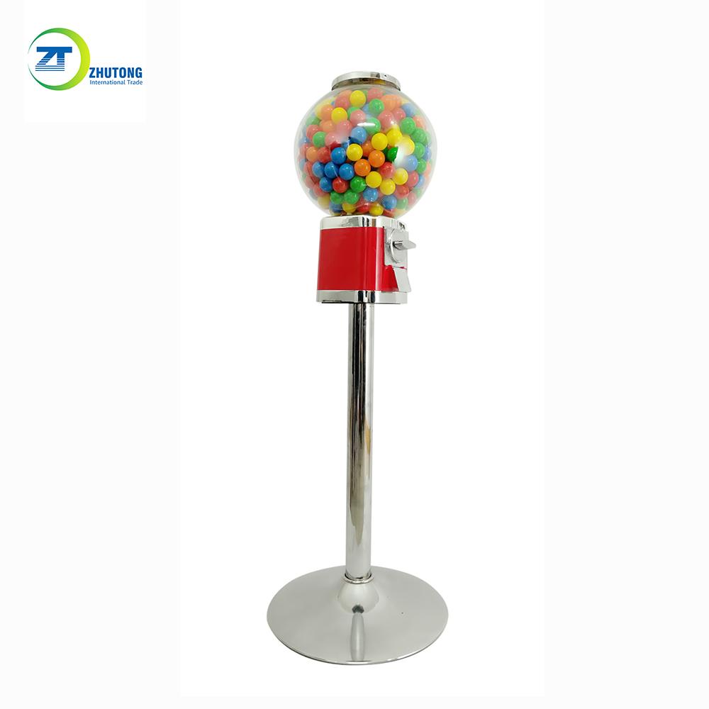 Изготовленный На Заказ небольшой торговый автомат Zhutong для конфет, диспенсер для жевательных шариков с подставкой