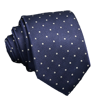 Navy Tie White Dots