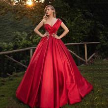 Сексуальное Красное Бальное Платье, бальное платье, платья на одно плечо, вечерние платья с открытой спиной для милых 16, вечерние длинные пл...(Китай)