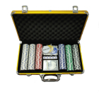High Quality Poker Set Poker Chip Set High Quality Cheap Custom Clay Poker Chips Set 300 Piece With Gold Aluminium Box