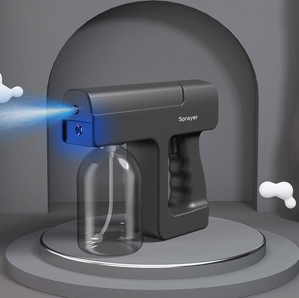 Автоматическая стерилизационная батарея, бутылка 300 мл, спиртовой распылитель Sprey, беспроводной распылитель с синим светом