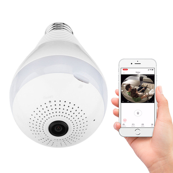 Baby Monitor Night Vision Indoor Hidden Cctv Light Bulb Wifi 1080P Wireless Security Camera Bulb To Iphone