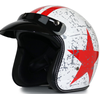 White with red star