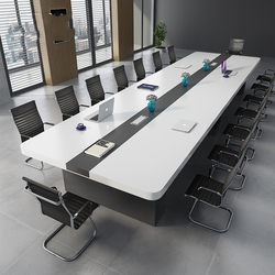 Factory Direct Sale Wooden Panel Thickening Of The Desk to Chairman office Conference Table