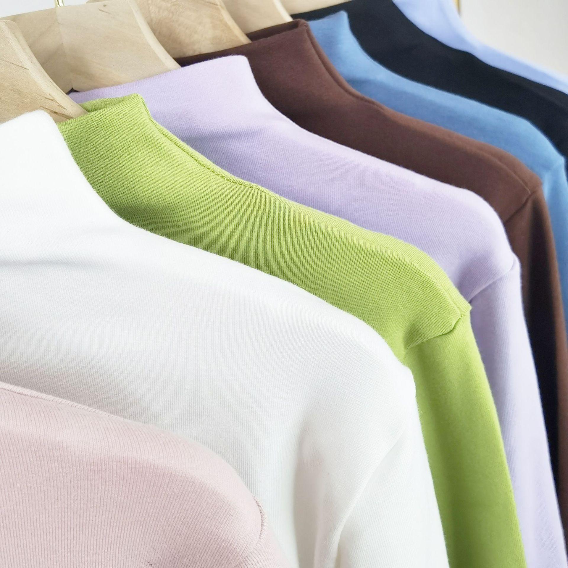 2020 Женская водолазка на заказ, Женский вязаный пуловер с высоким воротником для девушек, большие размеры, пуловеры с высоким воротником, одежда для дам