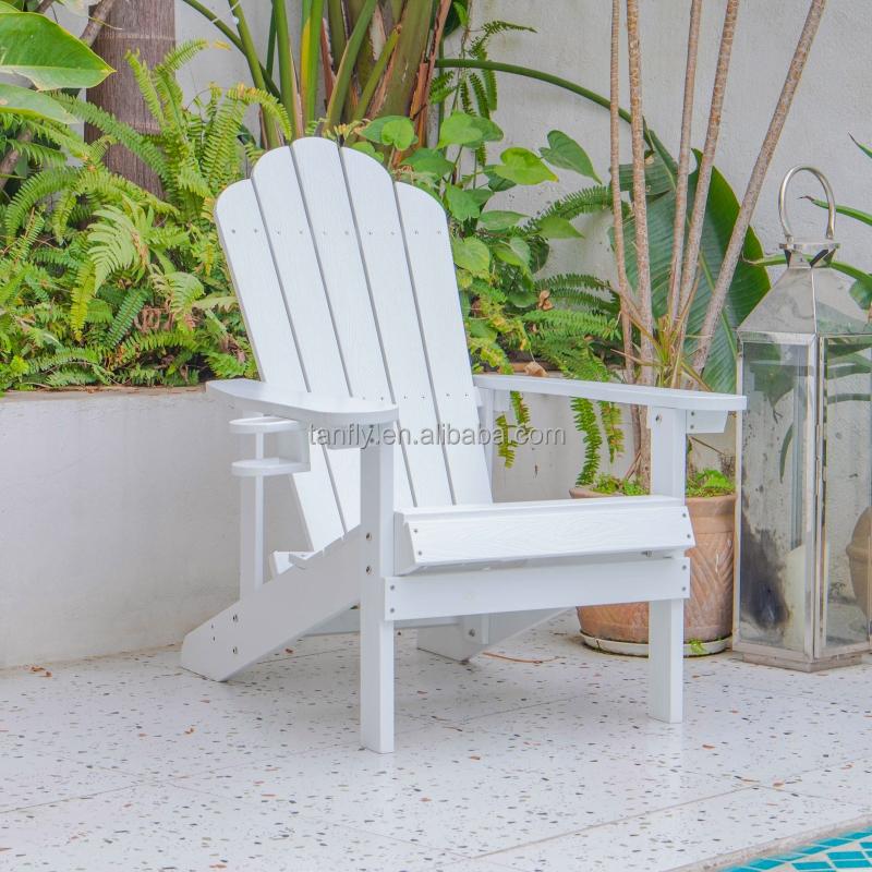 Высококачественный водонепроницаемый уличный складной пластиковый стул Adirondack для сада