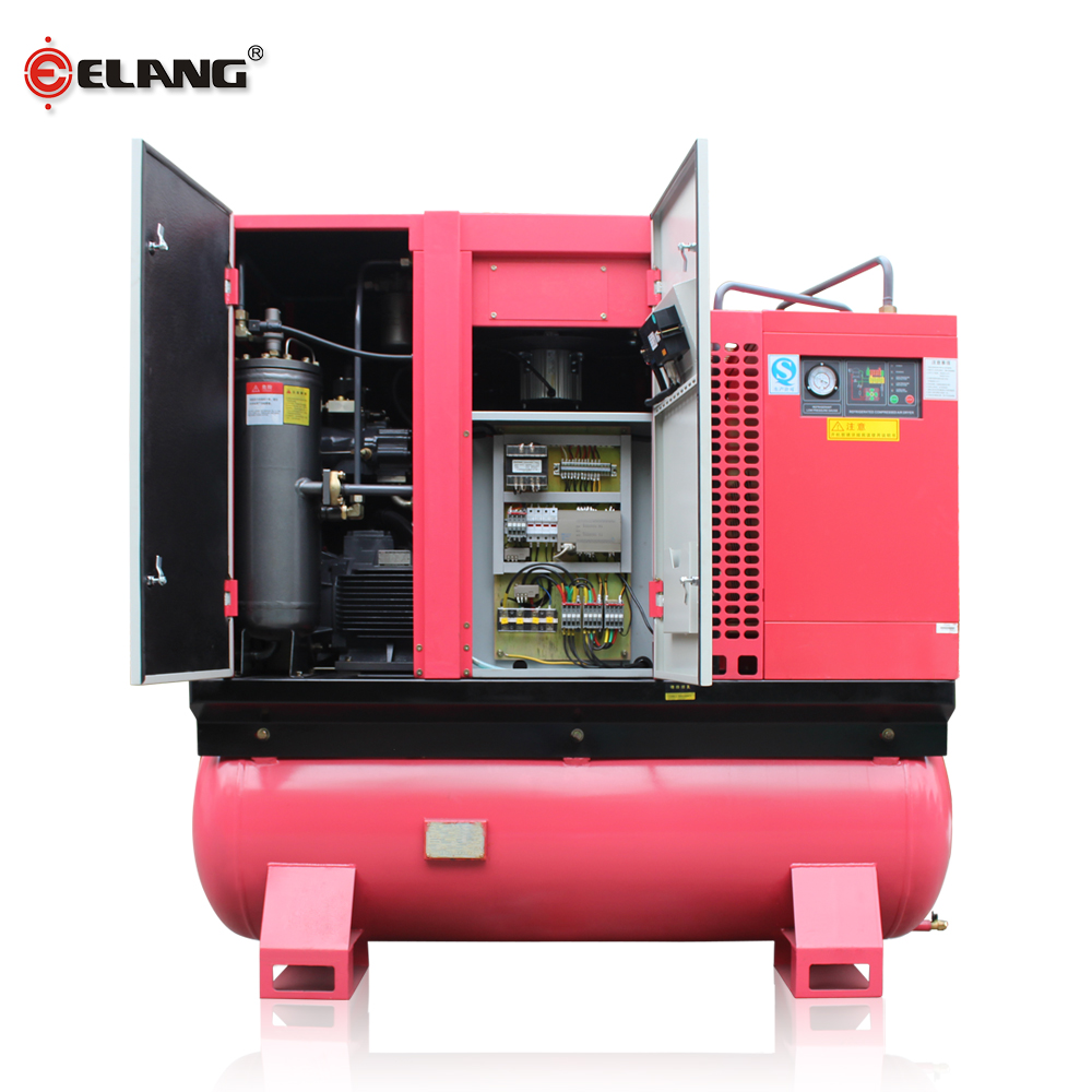 15 hp Stationary Screw Air-compressors with Air Dryer and Tank
