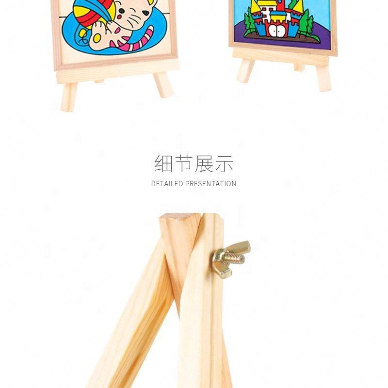 Мини Маленькая деревянная картина стол для настольного этюдника для детей