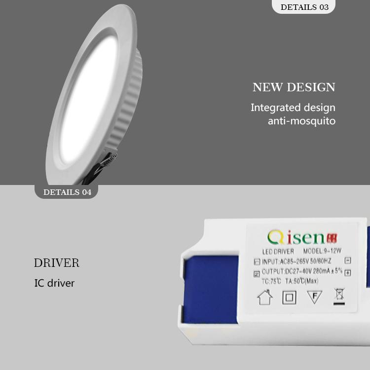 Потолочный светодиодный встраиваемый потолочный светильник Rgb 12 Вт Cob