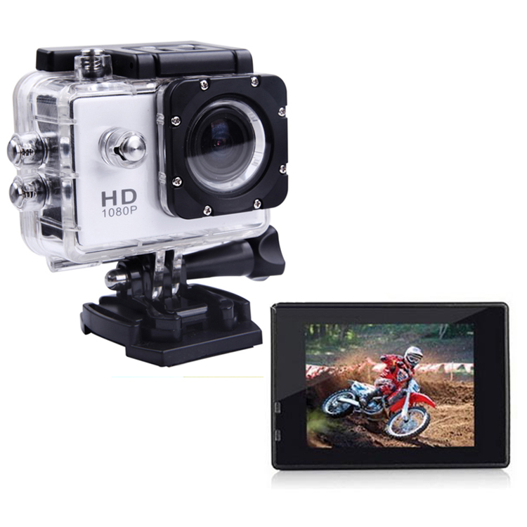 2.0 Inch Go Pro Style Action Camara Full Hd 1080P Underwater Action Camera