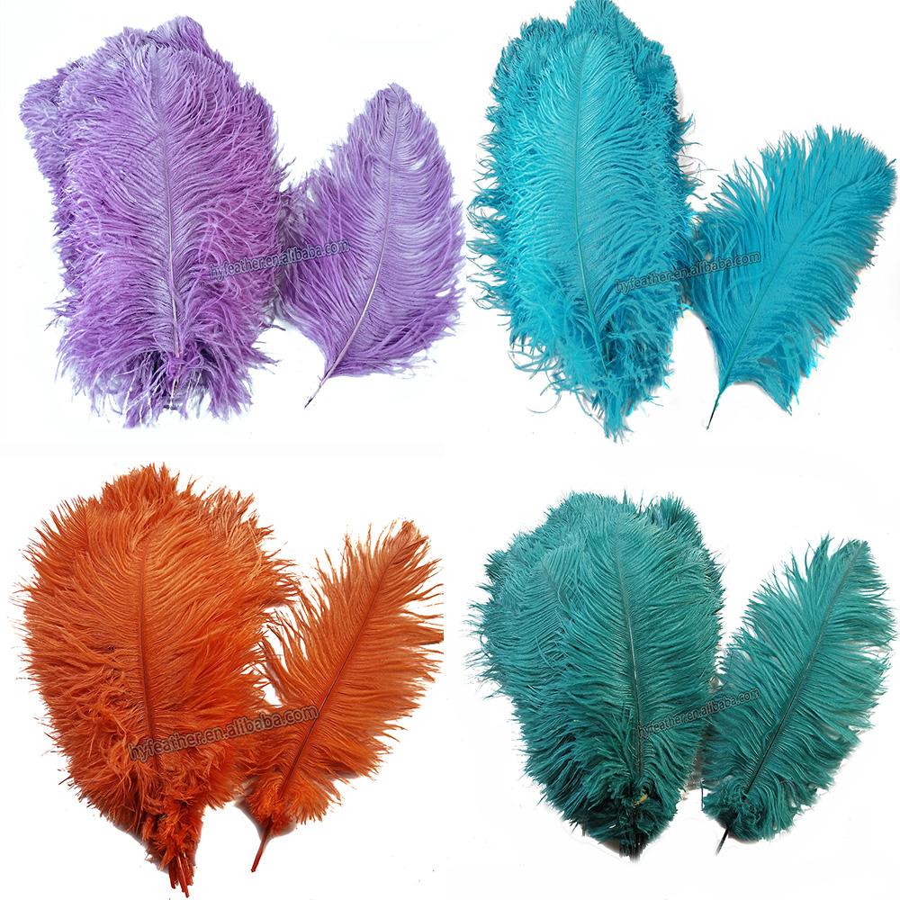 Оптовая продажа, поставщик перьев 50-55 см, Отбеливающее белое страусиное перо, окрашивающее страусиное перо Femina для продажи