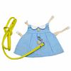 Blue clothes+leash