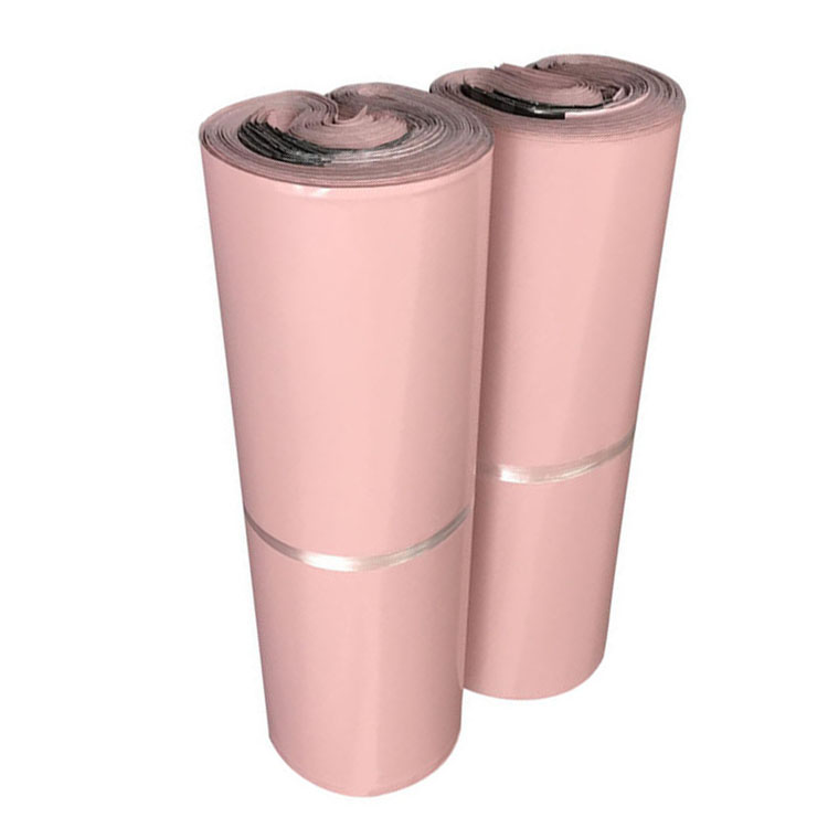 Pink self adhesive polybag delivery postal polymailer shipping poly mailer bag with glue