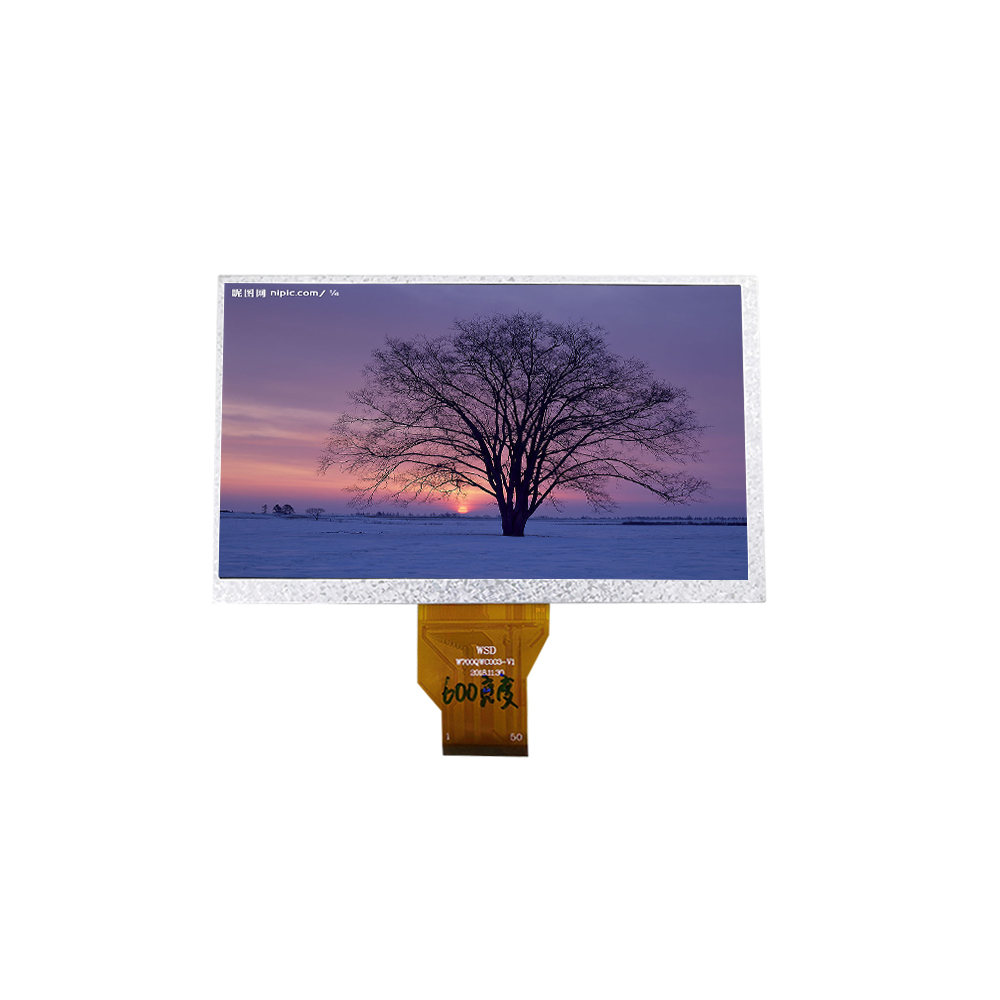 Sunlight readable 800x480 50pin 7 inch tft lcd module with RGB TTL interface under production
