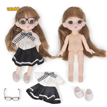 3D Doll Loli cute baby toy Little girl toy Fashion Girl Joints Doll Simulation 3D Doll Cuddle Gift Soft Body For Girl Toy