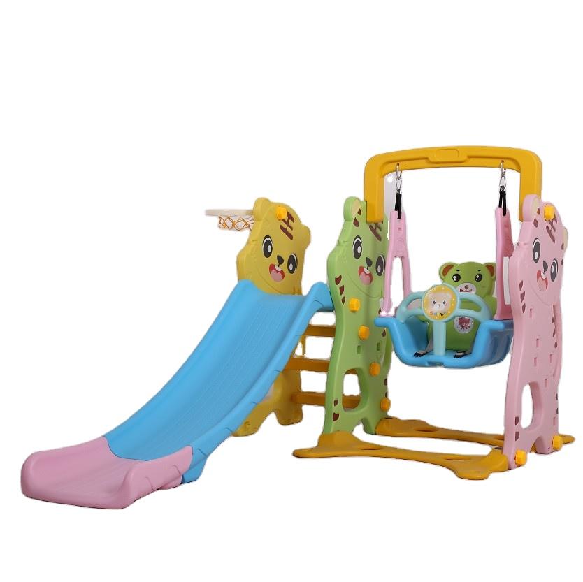 Новое оборудование для уличной игровой площадки, пластиковая горка и качели, игровой набор, игрушки для детей