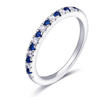 05;Platinum;half blue white diamond ring